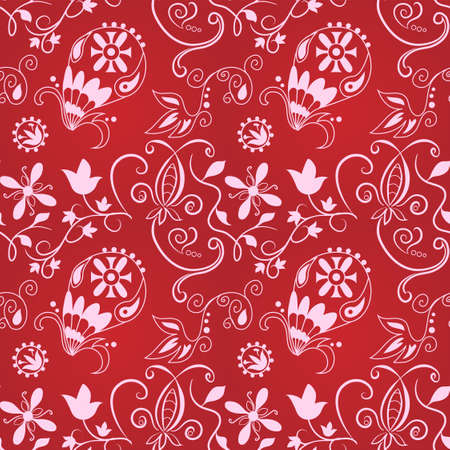 Seamless paisley pattern for your background design Vector