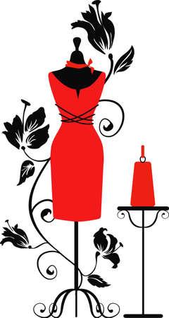 mannequin: Mannequin pour les tailleurs avec dreaa ang sac Illustration