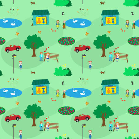 Town of kids. It shows kids life like sport, walk ect Vector