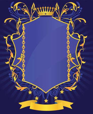 koninklijke kroon: Abstract floral koninklijke glanzend victoriaanse kader