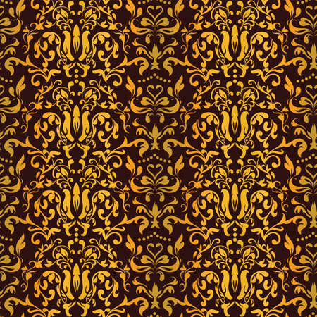 Barocco Floral Seamless Pattern Vector  for your background design Vector