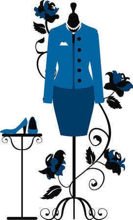 Mannequin for tailors with business dress in chanel style Vector