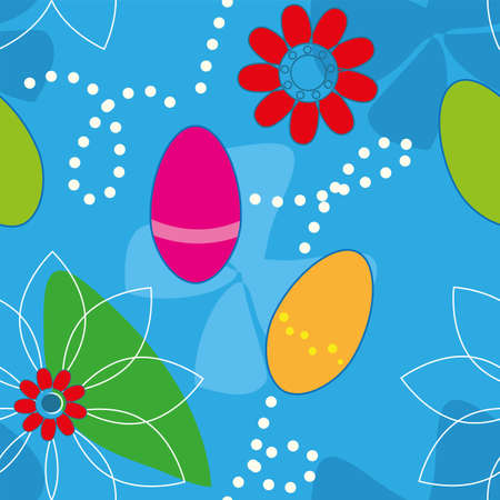 Cute Easter Seamless pattern  background  Vector