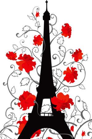 Eiffelturmschattenbild Standard-Bild - 21928290