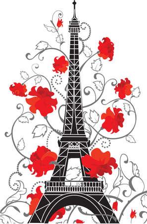 에펠 탑의 실루엣