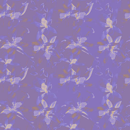 Floral seamless abstract watercolor pattern for design photo