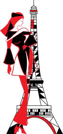 Graphic vintage Frauen Silhouetten Standard-Bild - 32392886