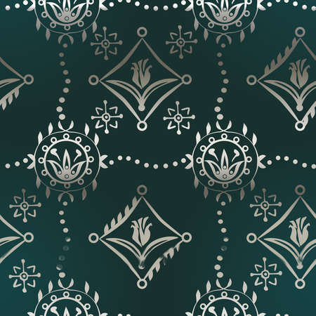renaissance: Renaissance  Seamless Pattern with tulips for your background design Stock Photo