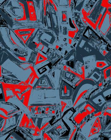Nahtlose abstrakte geometrische Muster für stilvolles Design Standard-Bild - 36775786