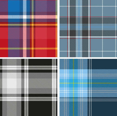 scotch: Set of seamless tartan patterns for design