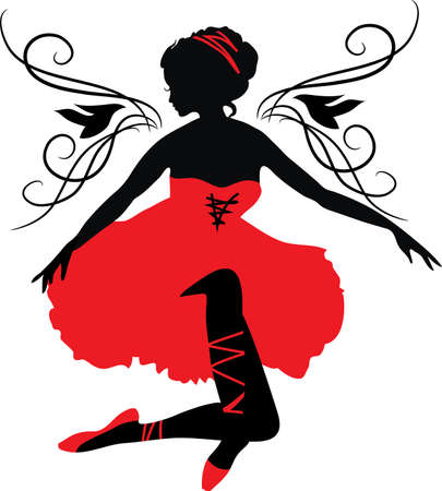 ballerina fairy: silhouette of a woman