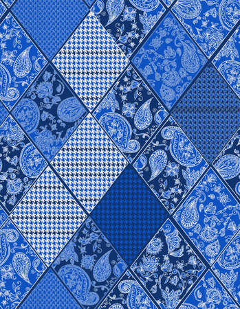 houndstooth: Seamless background lace, paisley and pied-de-poule, houndstooth design