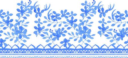 arabesco: Patrón de la tradición de la acuarela transparente abstracto para la tela Foto de archivo