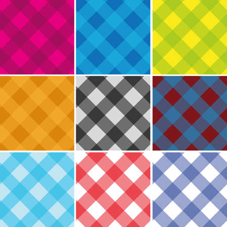 Seamless Cross weave Gingham Pattern. Vector. Any size Illustration