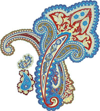 disegni cachemire: Sfondo ornamentale tradizionale. Disegno Paisley. Stile orientale Vettoriali
