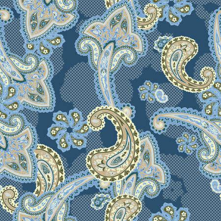 disegni cachemire: Tradizionale sfondo ornamentale senza soluzione di continuità.