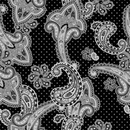 Traditional ornamental seamless background. Paisley design. Eastern style pattern photo