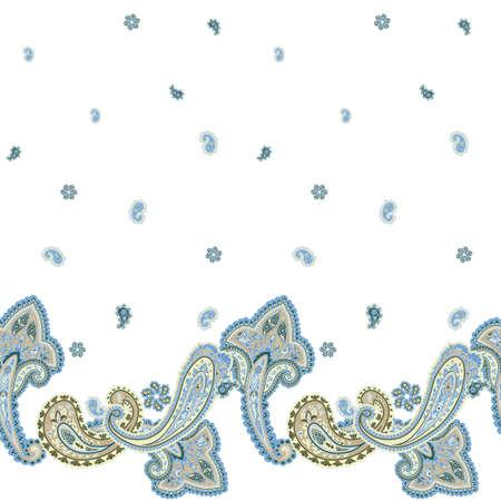 disegni cachemire: Tradizionale sfondo ornamentale senza soluzione di continuit�. Progettazione di nozze Paisley. Modello di stile orientale Archivio Fotografico