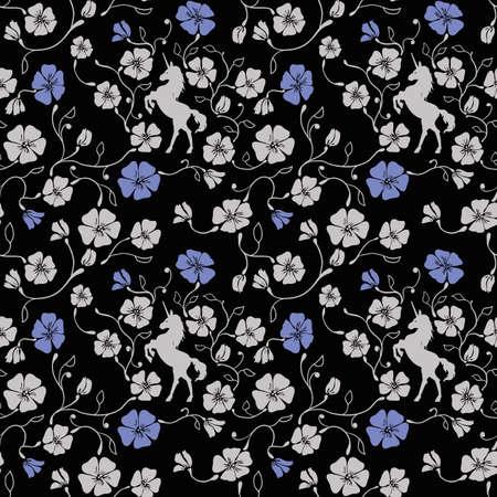 Motif Renaissance Seamless Floral Banque d'images - 40324598