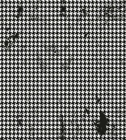 Hahnentrittmuster, pied de poule nahtlose Schwarz-Weiß-Vektor-Muster. Grunge klassischen nahtlose Muster Stoff Standard-Bild - 40325415