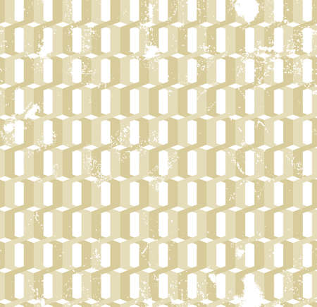 hauberk: Twisted  gold rings grunge seamless pattern. Geometric style. Fabric design