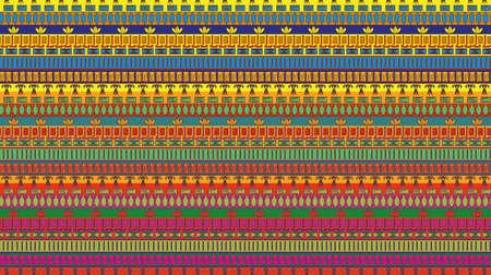 Rayas egipcio con elementos de la tradición nación. Ornamento horizontal. Vector Foto de archivo - 40645894