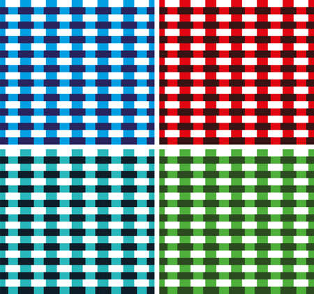 any size: Seamless Cross weave Brick Pattern. Vector. Any size