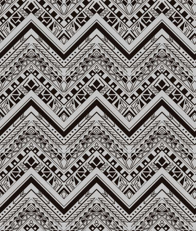 white carpet: Vector ethnic seamless pattern with american indian traditional ornament in black and white colors. Tribal background. Aztec design for fabric. Print of native american art.