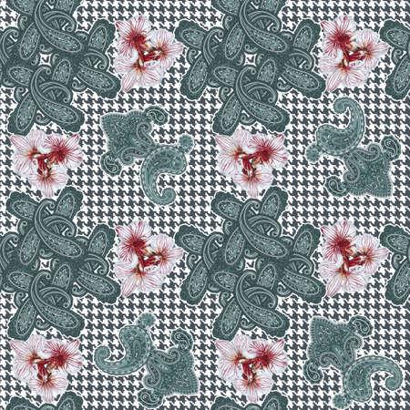 Traditionelle ornamentalen seamless background. Paisley-Design. Eastern Stil Muster Standard-Bild - 45289614