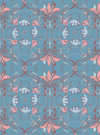 rococo: Vintage abstract seamless floral pattern for lingerie fabric. Rococo style Illustration