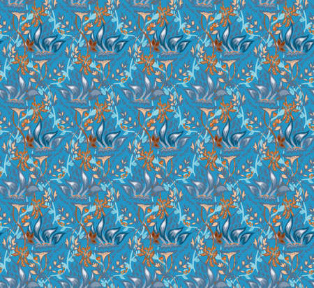 sophisticate: Seamless Flower  Pattern. Summer background garden for design Illustration