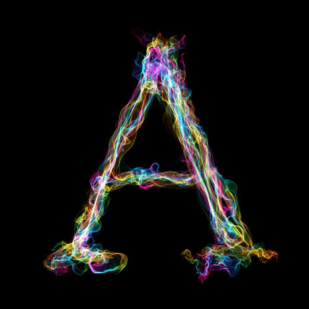 ardent: Rainbow smoke letter A for make wonderful text
