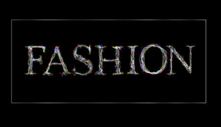 flame letters: Chalkboard smoke word  fashion.  White flame letters stylish design Stock Photo