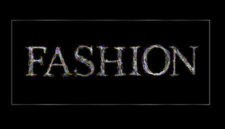 fervent: Chalkboard smoke word  fashion.  White flame letters stylish design Stock Photo