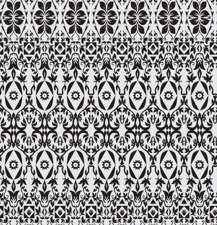 black lines: Abstract background seamless beautiful pattern for design Illustration