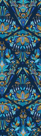 fabric art: Ethno boho ornament. Ethnic seamless pattern. Tribal art print, tile background. Fabric design, wallpaper, wrapping