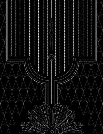 art deco: Art Deco vintage background . Geometric decorative illustration