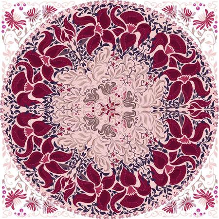 Circular pattern of traditional motifs