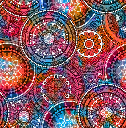 wallpaper floral: Hippie mandala pattern Stock Photo