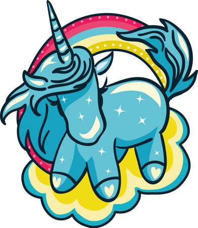 fantasy: Unicorn Vector Illustration