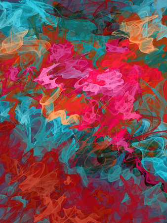 naive: Colorful bright digital painted illustration. Watercolor imitation