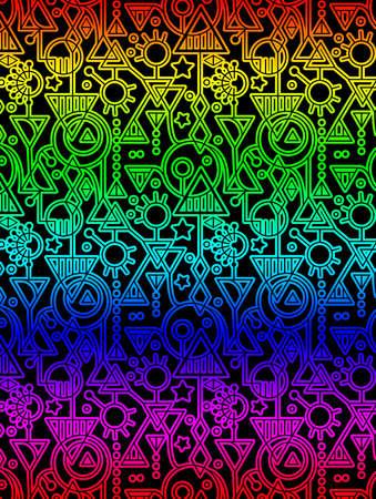 Abstract Decorative Geometric Rainbow Pattern Stockfoto