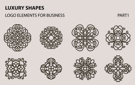 Set of universal floral minimal geometric icon. Vectores