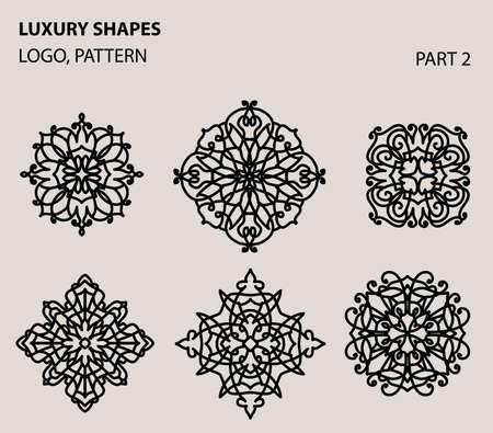 Set of universal floral minimal geometric.