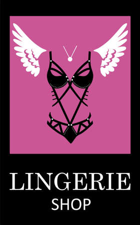 Lingerie luxury style tag background. Stylish design for underwear shop.
