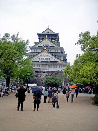 osaka castle: Osaka castle in Japan Editorial