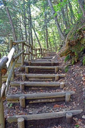 trecking: Kamikochi in Nagano Prefecture Stock Photo