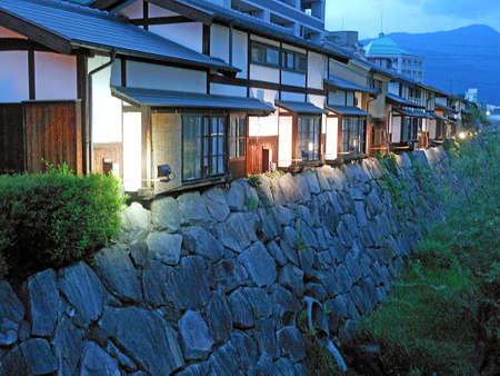 matsumoto: Old Japanese style house in Matsumoto Stock Photo