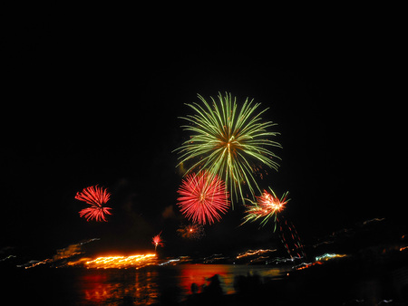 works: Fire works Stock Photo