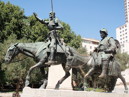 don quijote: Esculturas en bronce de Don Quijote